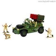"""Р/У игрушка """"Военный джип с зенитной установкой"""" MioshiArmy (30см, с фигурками 2 солдата и 1 собака, подсветка, звук) фото"""
