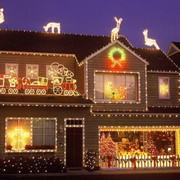 Новогоднее украшение фасадов фото