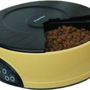 Автокормушка на 4кормления для 1,-1,2кг корма Желтая PF2Y фото
