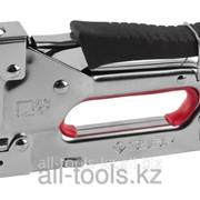Пистолет Зубр Мастер скобозабивной металлический пружинный, регулируемый, тип 53, 4-14мм Код:31565 фото