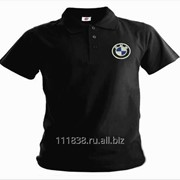 Рубашка поло BMW черная фото