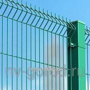 Забор Gardis Optima 3D Покрытие: цинк 2400*2830 фото