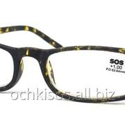 Очки для чтения SOS унисекс модель P 15040 Mat Yellow pattern фото