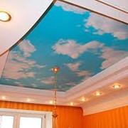 Художественная фотопечать на натяжных потолках фото