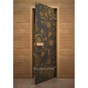 Дверь Арт серия с полноцветным рисунком ГлассДжет Желтый узор фото