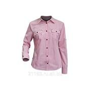 Блузка с длинным рукавом сафари клетка розовая код товара: 00003991 фото