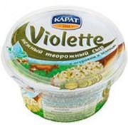 Сыр творожный VIOLETTE с огурцами и зеленью, 140г фото