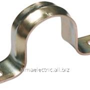 Скоба металическая 2-лапковая d 16-17мм для металорукава d-12 фото