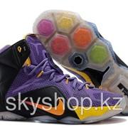 Кроссовки Nike LeBron XII 12 Violet Black Gold Elite Series 40-46 Код LBXII05 фото