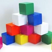 Конструктор деревянный Кубики крашеные 512412 50х50х50 фото