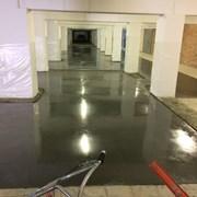 Промышленный бетонный пол с топпингом фото