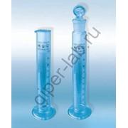 Цилиндры мерные, 100 мл, Исп.1 с носиком и стеклянным основанием 2-го класса точности фото