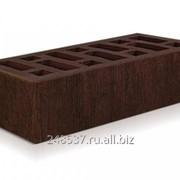 Кирпич облицовочный коричневый одинарный бархат М-150 СтОскол фото