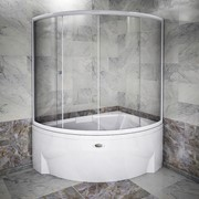 Шторка на ванну Астория luxe (хромированный профиль) фото