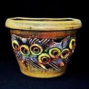 """Горшок для цветов из керамики ручной работы """"Кашпо лепка"""" фото"""