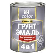 Грунт-эмаль по ржавчине светло-серая быстросохнущая ВИТ color 2 кг. фото