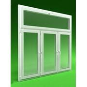 Трехстворчатое пластиковое окно с фрамугой