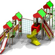 Уличный спортивно-игровой комплекс Старый город для детей 6-12 лет фото