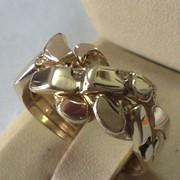 Женское золотое кольцо головоломка от WickerRing фото