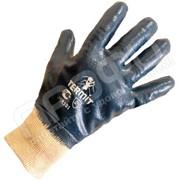 Перчатки нитриловые манжет трикотажный, полный облив Premium фото