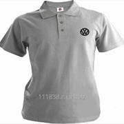 Рубашка поло Volkswagen серая вышивка черная фото