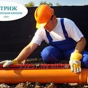 Монтаж систем наружной канализации из бетонных колец под ключ фото