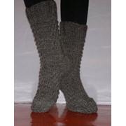 Носки женские ромб серый фото