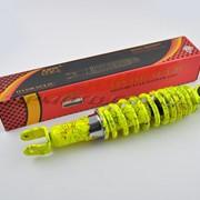 Амортизатор GY6, DIO, LEAD 280mm, регулируемый NDT лимонный +паутина фото