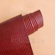 Натуральная кожа для обуви и кожгалантереи рыжего цвета арт. СК 2080 фото
