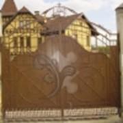 Кованые ворота для загородного дома - 001 фото