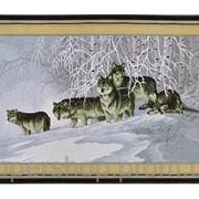 Набор для вышивки картины Волчья Стая 75х45см 373-37010704 фото