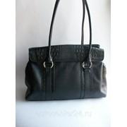 Кожаная сумка Черный фото
