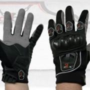 Перчатки летние S21T (кожа-текстиль, цвета и размеры в ассортименте) фото