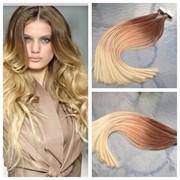 Натуральные волосы для ленточного наращивания фото