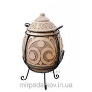 Тандыр-очаг «Фаберже» рельефный элитный Мт4 фото