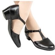 Туфли народные полуоткрытые (черные) фото
