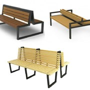 Двусторонние садовые скамейки фото