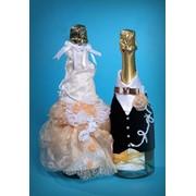 """Одежда для бутылок """"Персиковая свадьба"""" фото"""