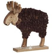 Фигурка «Пушистый лось» коричневый, 25 см (Edelman) фото