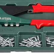 Заклепочник KRAFTOOL EXPERT-360 поворотный 0-360 градусов, для алюминиевых заклепок, 3,2-4-4,8мм, в боксе. Артикул: 31176-H6 фото