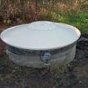 Крышка алюминевая для колодца с защелкой СК-245