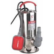 Насос ЗУБР погружной для грязной воды, корпус из нержавеющей стали, пропускная способность 230 л/мин, 750Вт фото