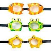 Очки для плавания, от 3 до 8 лет, 3 дизайна, INTEX 55603 фото