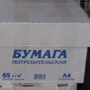 Бумага потребительская в пачках 65г/м2 А3 фото