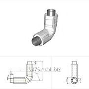 Отвод укороченный стальной в оцинкованной трубе-оболочке d=1420* мм, s=12 мм, R=1Dy фото