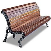 """Скамейка парковая """"Лукоморье"""", кресло, 0,6м фото"""