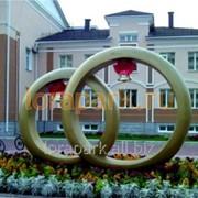 Скульптура Кольца Счастья фото