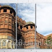 Модульна картина на полотні Червоний форт Агра. Індія код КМ100200(200)-060 фото