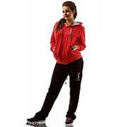 Спортивный костюм YSL красный+черный фото