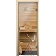 Дверь для бани АКМА Linden 7х19 (бесцветное, коробка липа)